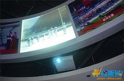 大越展厅投影机企业成都某公司水利成就索尼南建筑设计工程图片